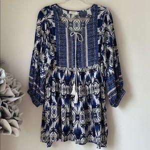 Velzera Printed Tunic Dress Sz. M